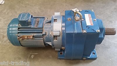 David Brown Radicon Gearbox M0822 22/1 Bgc 63Rpm 50Mm Shaft With 4Kw 415V Motor