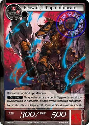 Fow TAT 4x BEOWULF, IL LUPO INFUOCATO - C 019 Mint ITA Force Of Will