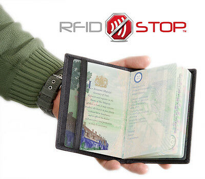 KORUMA RFID Blocking Leather Travel Biometric Passport Holder Case (KUK-91BL)