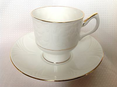 Crown Staffordshire Est. 1801 Fine Bone China Cup & Saucer England Glendale