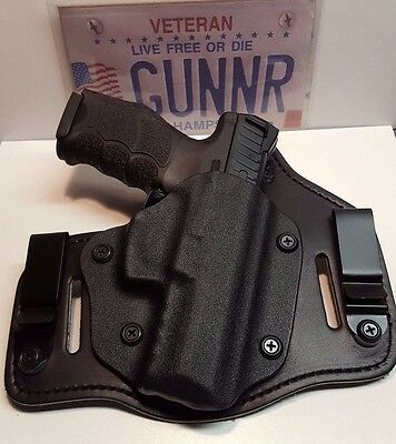 "IWB & OWB TUCKABLE HYBRID HOLSTER KYDEX & BRIDLE LEATHER - The ""Dual Function"""