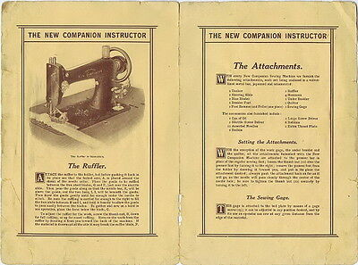 Vintage New Companion Instructor Attachments Instructions Leaflet