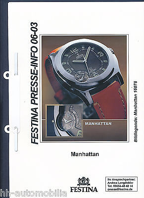 Presseinformation Festina Manhattan Armbanduhr - 6/03 press release wrist watch