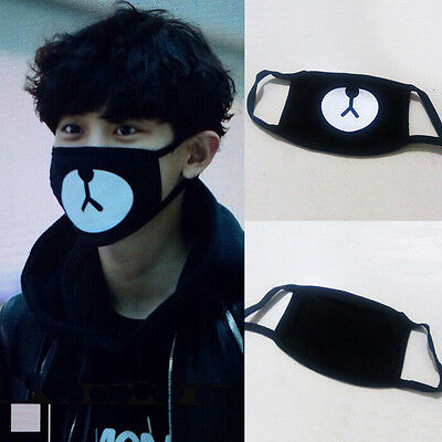 New Arrival EXO Chanyeol Chan yeol Same Style Lucky Bear Black Mouth Mask Kpop