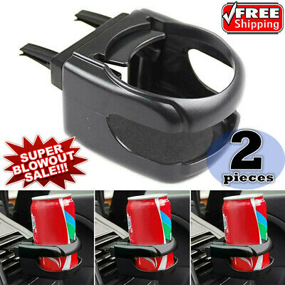2 x Universal Car Air Vent Folding Cup Bottle Drink Holder with Fan can holder