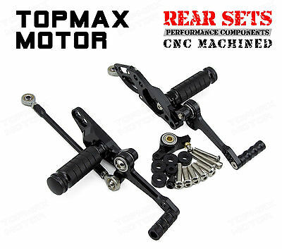 Racing Rearsets Rear Sets For Ducati StreetFighter 848 2011-2013 2014 Black