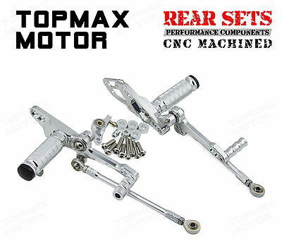 Adjustable Silver CNC Rearsets For Ducati Streetfighter 848 StreetFighter S 1100