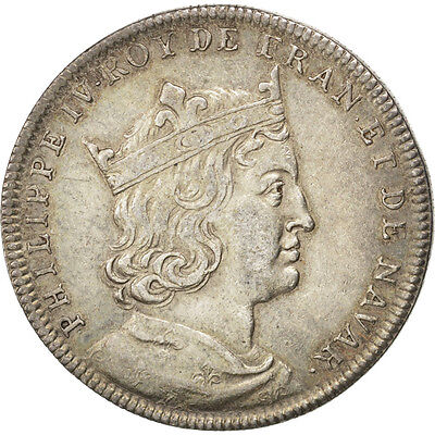 [#400017] FRANCE, History, Philippe IV le Bel, Medal, AU(55-58), Silver, 5