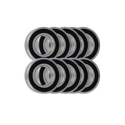 Pack of 10 6004 2RS 60042RS Rubber Sealed WM1/MSB Brand Bearing 20x42x12mm