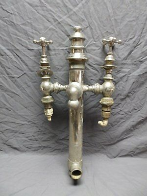 Rare Unusual Antique Bathtub Tower Drain Gooseneck Spout Valves Old Vtg 4610-15