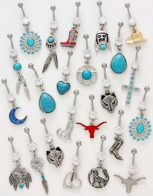10pc Southwestern Mix Belly Rings Navel naval Wholesale Lot (B64)