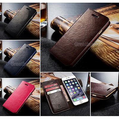 Genuine Real Leather Wallet Phone Case for iPhone XS XSMax XR 6S 7 8Plus&Samsung