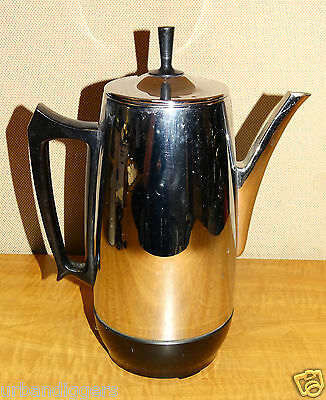 927/ Mid Century Chrome Westinghouse Coffee Pot Percolator ~ WORKS Atomic 1960s