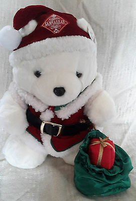 1998 Mr. and Mrs Santa Bear with bags