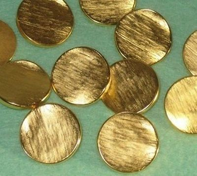 """CONTOURED Fancy Set 11 Striated Gold New Buttons 15/16"""""""