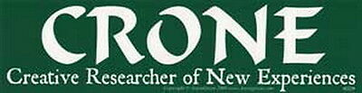 BUMPER STICKER CRONE Creative Researcher of New Experiences Wicca Pagan Witch