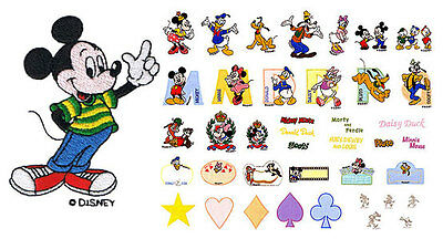 Disney World of Mickey Mouse Machine Embroidery Designs PES  CD, USB