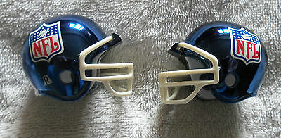 NFL Logo Blue Chrome Riddell Pocket Pro Helmet - New
