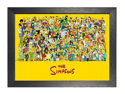 The Simpsons Characters American Animated Sitcom Cartoon Kids Funny Poster Print