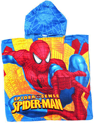 New Beach Pool Bath Red Spiderman Hooded Hoody Towel Boys Kid Xmas Gift Toys