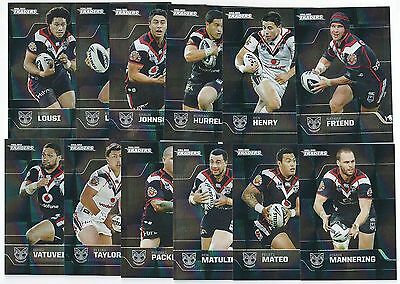 2013 NRL Traders WARRIORS Parallel Team Set