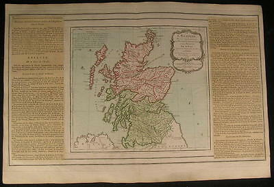Scotland Orkney Islands Jura Isle 1766 beautiful old vintage antique rare map