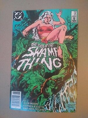 SAGA OF THE SWAMP THING #25  Constantine Cameo!!!!!!!!!!!!   Newsstand Ed. VG+