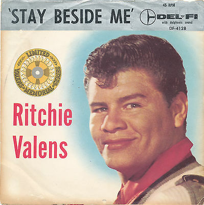 """7"""" - Ritchie Valens - Stay Beside Me / Big Baby Blues - Delfi DF-4128 - US 1959"""