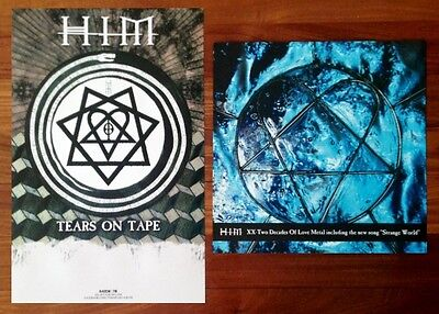 HIM Tears on Tape   XX: Two Decades Of Love Metal Posters Lot +FREE Rock Poster!