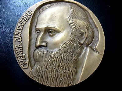 POET & POLITICIAN GUERRA JUNQUEIRO / BIRDS 80mm BRONZE MEDAL by M. Nogueira N104
