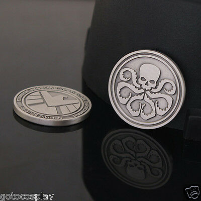 Agents of shield S.H.I.E.L.D. Hydra Metal Double Commemorative Coin 30mm