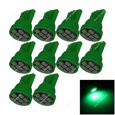 10pcs Green T10 W5W 8SMD 1206 LED Car Clearance Lamp Roof Light Reading Bulb 12V