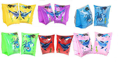Kids Children Inflatable Swimming Armbands Training Arm Bands 3Y+