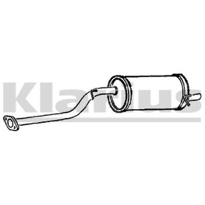 1x KLARIUS OE Quality Replacement Rear / End Silencer Exhaust For SUBARU Petrol
