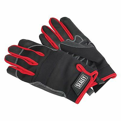 Sealey Mechanics Garage Work Gloves - Light Palm Tactouch - Large - MG798L