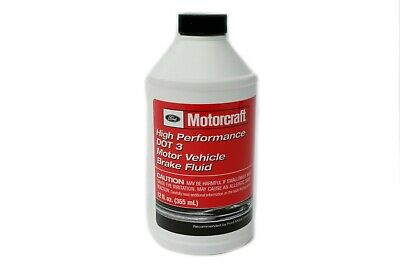 OEM NEW Ford Lincoln Motorcraft Brake Fluid High Performance DOT 3 PM-1-C 12 Oz.