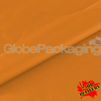 1000 SHEETS OF ORANGE COLOURED ACID FREE TISSUE PAPER 500x750mm *TOP QUALITY*