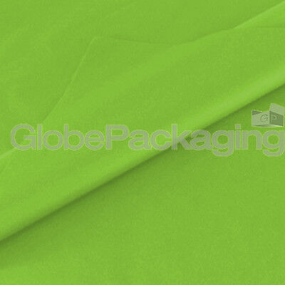 50 SHEETS OF LIME GREEN ACID FREE TISSUE PAPER 500mm x 750mm, 18gsm *QUALITY*