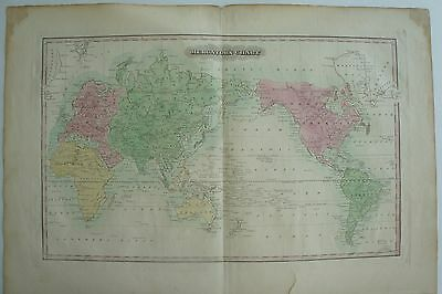 Antique Original 1823 Merchants Chart Map - Not Reproduction