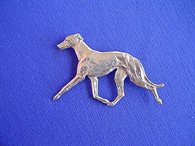 Whippet Greyhound Trotting Pin #11A Pewter hound dog jewelry by Cindy A. Conter