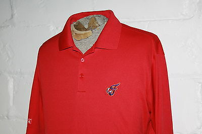 NWOT Men's Antigua WNBA Indiana Fever Red Embroidered Polo Golf Shirt Sz L NICE