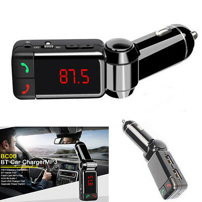Bluetooth voiture Transmetteur FM MP3 USB SD Chargeur main libre Pr phone BC06