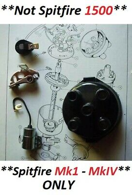 TRIUMPH TR5 TR6 DISTRIBUTOR CAP POINTS ROTOR ARM CONDENSER Ignition Kit 67-76