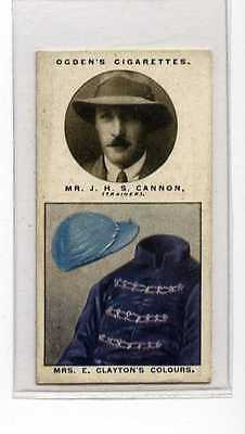 (Jb5935-100)  OGDENS,TRAINERS & OWNERS COLOURS 2ND,CANNON,1926#5
