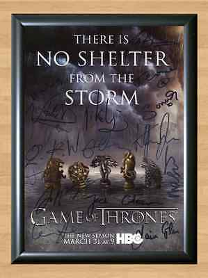 Game of Thrones Season 4 Cast Signed Autographed A4 Print Poster Photo Dvd TV