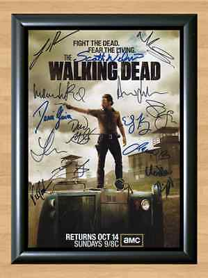 THE WALKING DEAD Cast x15 Signed Autographed A4 Print Poster Photo Dvd TV Season
