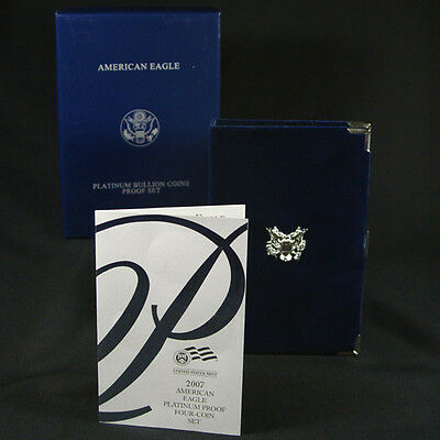 2007-W 4 Coin Proof Platinum American Eagle Box OGP & COA No Coins