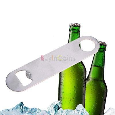 Unique Flat Stainless Steel Speed Bottle Cap Opener Remover Bar Blade AU BIC