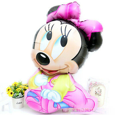 75cm Disney Baby Minnie Mouse Foil Balloon Decoration Girl Kids Party Favor Gift