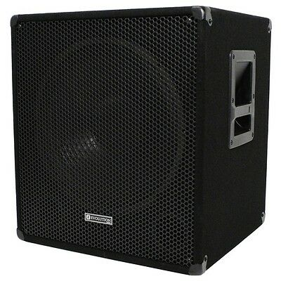 "Evolution EL-SUB 18SA 1000W 18"" Active PA Subwoofer, DJ, Disco, Live, Sub Bass"